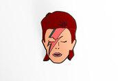 hair accessory,enamel pin,David Bowie,halloween,pins,gift ideas