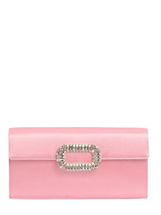 clutch silk satin light pink light pink bag