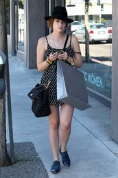 dress,ashley benson,floral,streetstyle,celebrity,lucca couture,bag