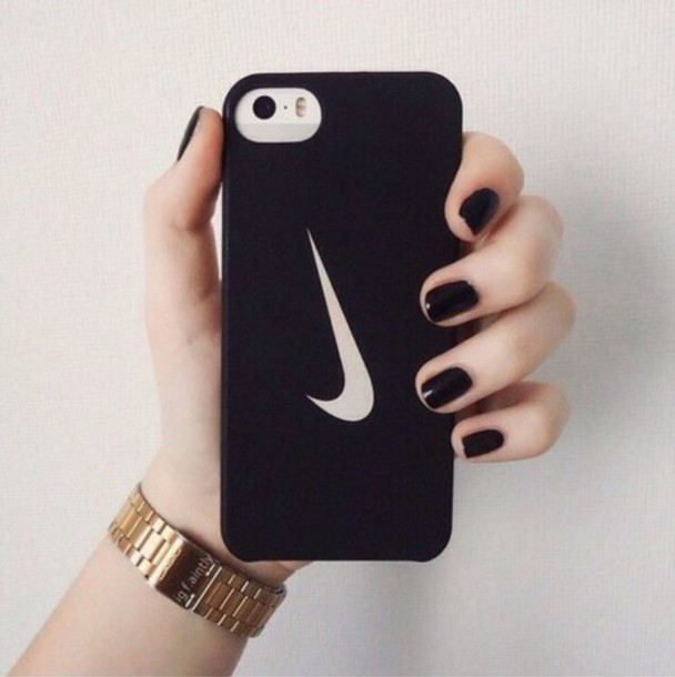 phone cover nike phone cover phone iphone cover iphone case iphone 5 case iphone iphone 4 case nike case black white black and white watch nail polish nail accessories nails tumblr tumblr iphone cases