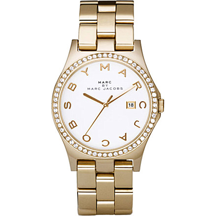 MARC BY MARC JACOBS - MBM3045 gold-plated watch | Selfridges.com