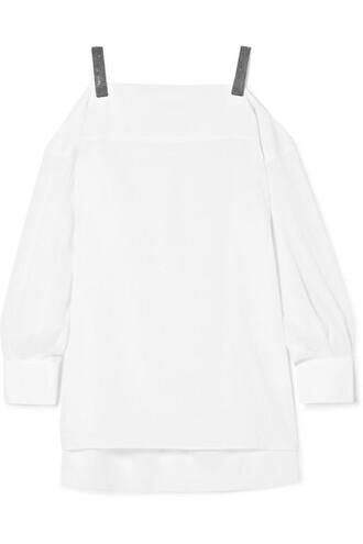 top white silk