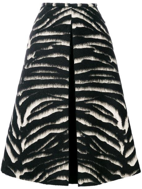 Rochas skirt midi skirt fur women midi mohair black wool