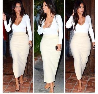 skirt kim kardashian jumpsuit