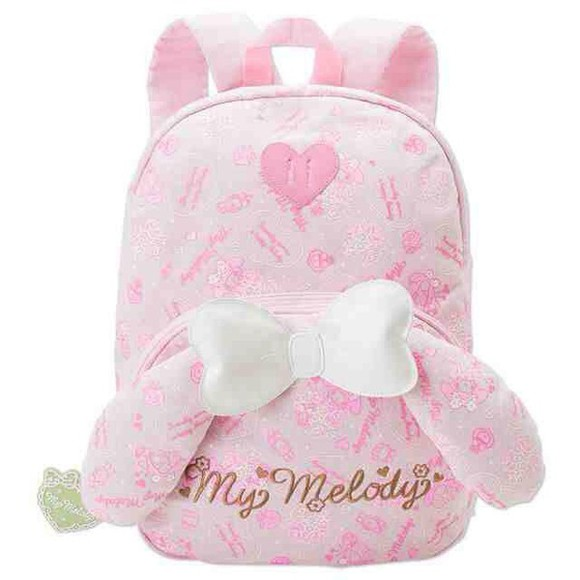 cute pink pastel kawaii girly bag sanrio my melody pastel pink bookbag backpack school bag