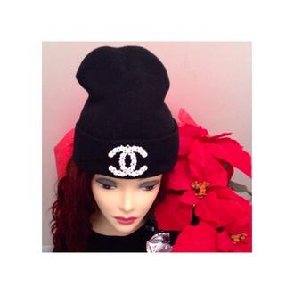 hat style beanie black tumblr tumblr girl sexy fashion rhinestones diamonds rhinestone