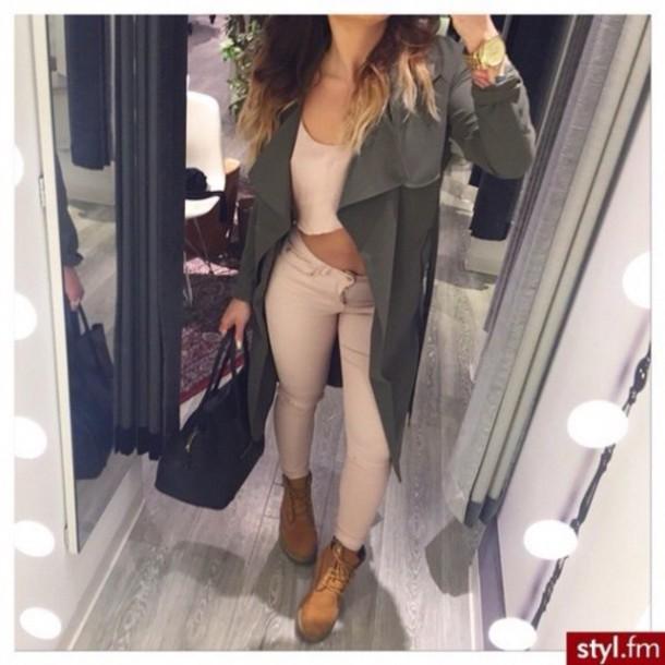 jeans beige curve jacket