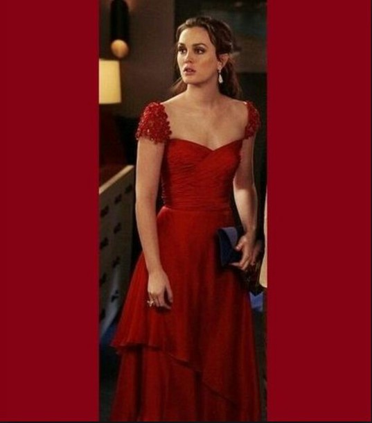 dress gossip girl blair red dress