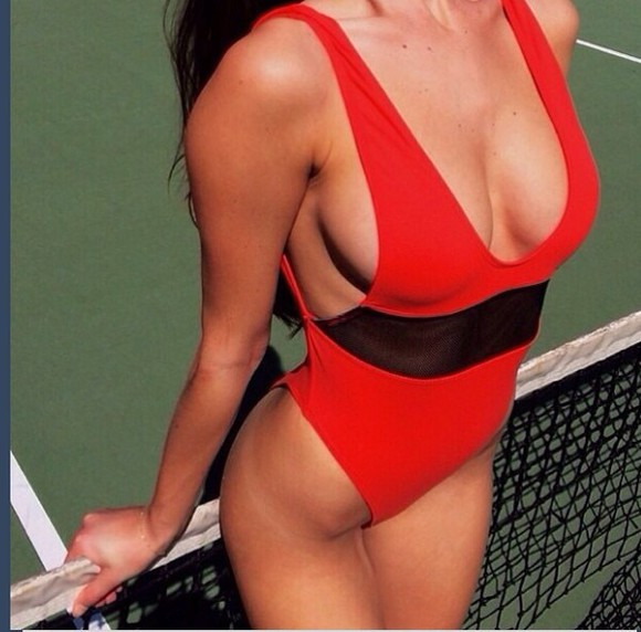 swimwear red swimwear bikini red red swimsuit red swimmer swimsuits sexy fashion red, onepiece swimsuit