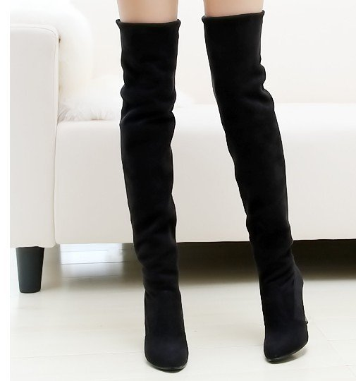 Free&drop shipping!fashion jackboots over the knee boots for women/faux suede upper stretch fabric slim boots plus size c50
