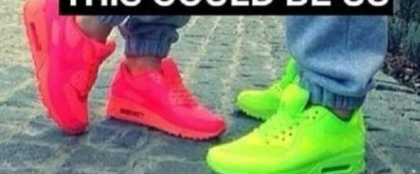 shoes pink green or yellow