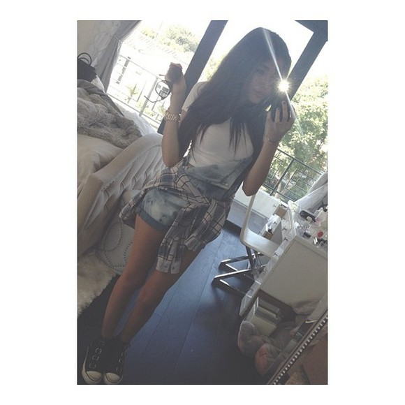 playsuit romper shorts madison beer overall flannel shoes denim romper dungaree shirt