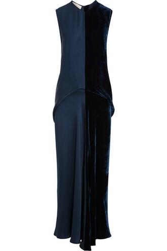 dress maxi dress maxi navy velvet satin