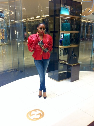 sunglasses red leather leather jacket prada pumps gucci gucci sunglasses london paris milano new york city leather gloves balenciaga denim red bottoms high heel pumps black shoes streetwear
