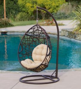 amazoncom best selling eggshaped outdoor swing chair patio rocking chairs patio lawn u0026 garden