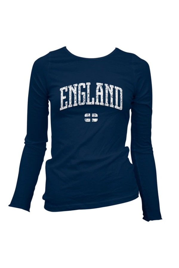 t-shirt dark blue england long sleeves