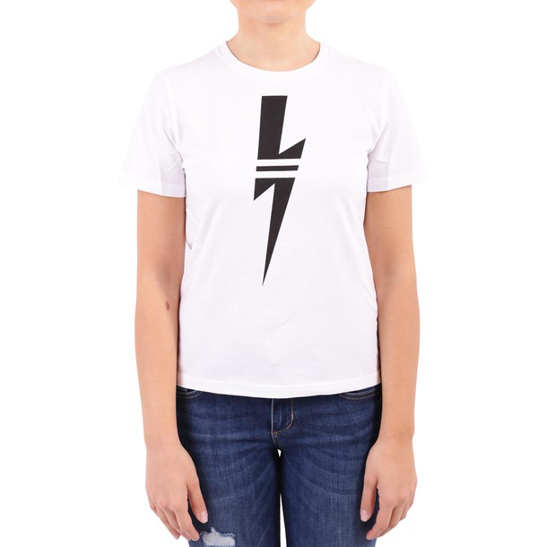 neil barrett t-shirt shirt cotton t-shirt t-shirt cotton white top
