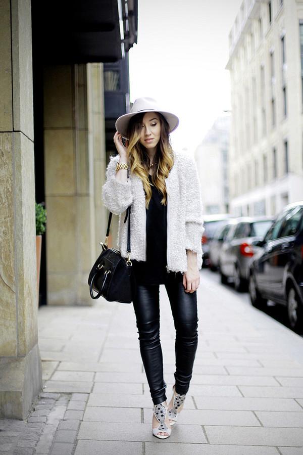 flirting with fashion blogger jacket bag