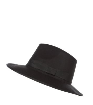 Black Felt Fedora Hat