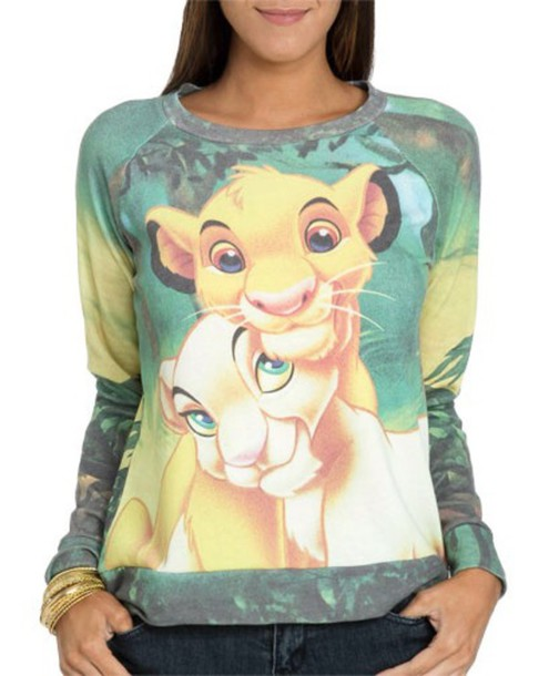 sweater green lion king sweatshirt