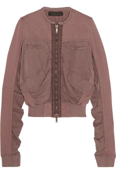 Haider Ackermann jacket bomber jacket cotton satin rose