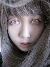make-up,white,contacts,lipstick,lip balm