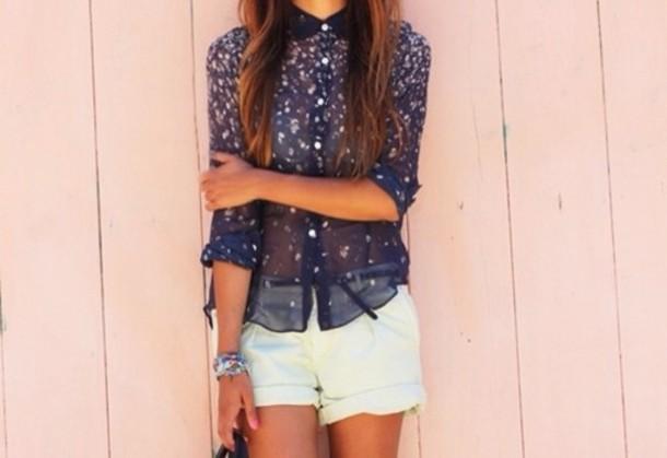 shirt blue fashion summer
