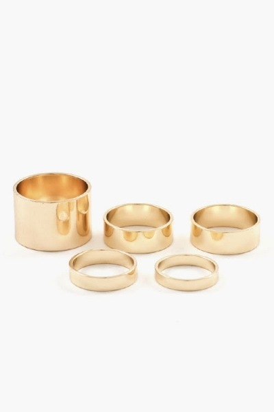 Thick to thin ring set