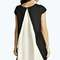 Etta colour block pleated back trapeze dress