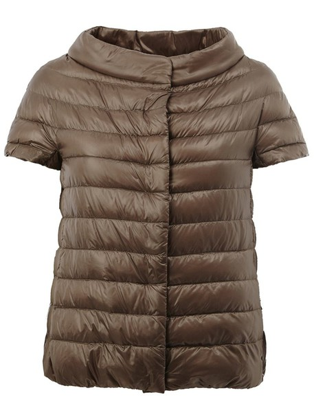 Herno jacket puffer jacket women nude cotton