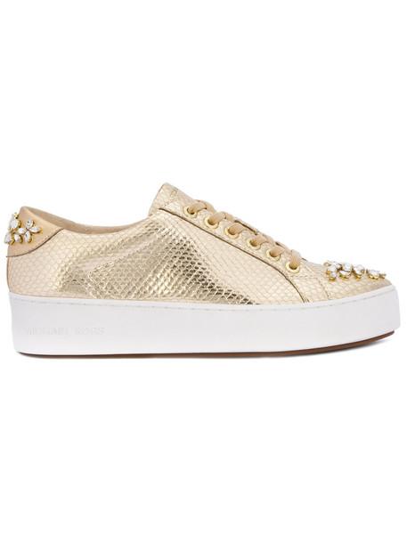 MICHAEL Michael Kors women sneakers leather grey metallic shoes