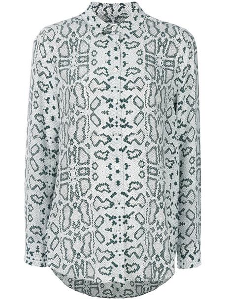 Equipment - printed shirt - women - Silk - XL, Blue, Silk