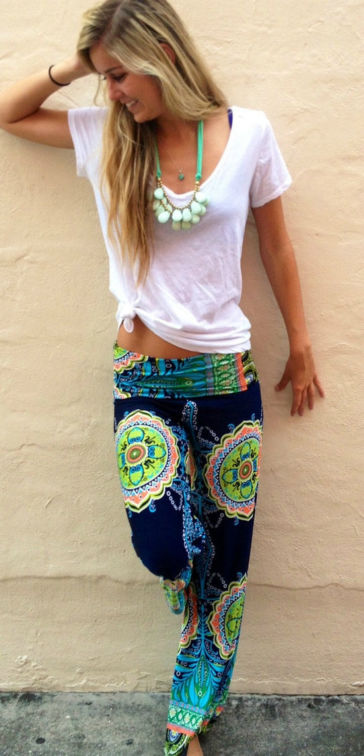 Pants, Beach Pants, Boho Pants, Hippie Pants, Linen Pants, high ...