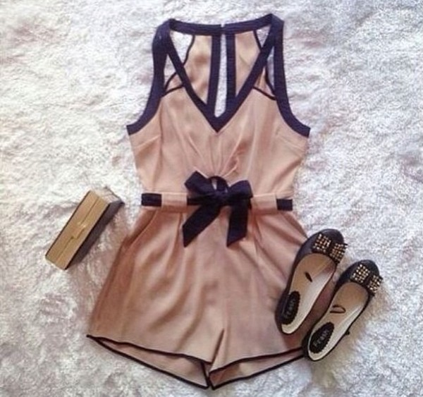 blouse romper shoes black outfit cute fashion style clothes