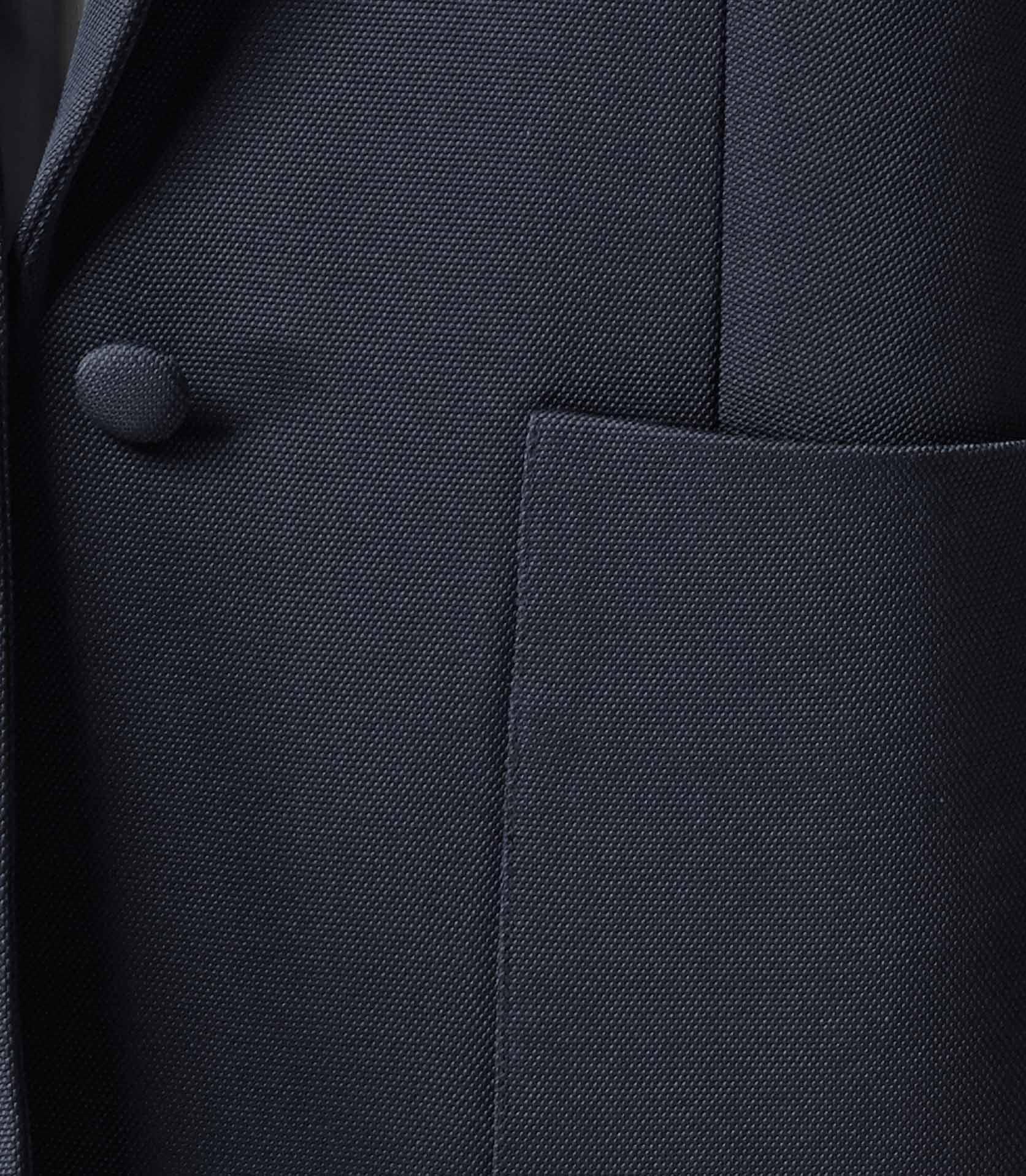 Cyan Lux Navy Relaxed Tuxedo Blazer - REISS