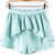 Light Blue Ruffle Skirt Shorts - Sheinside.com