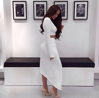 skirt two-piece white