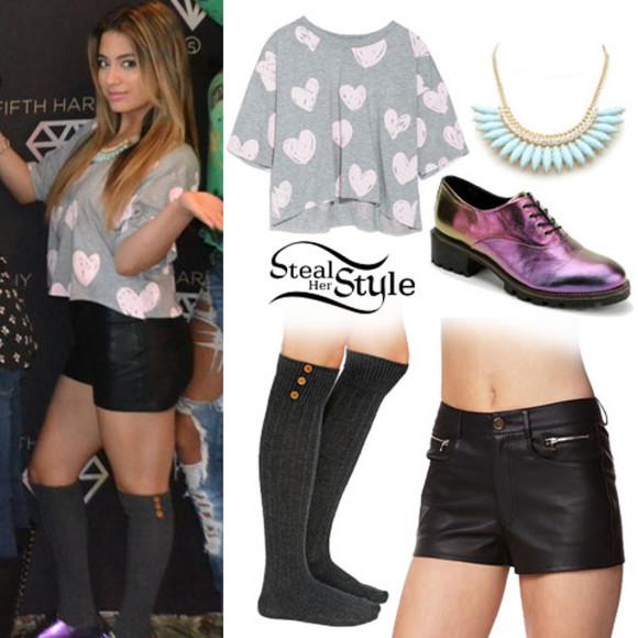 cute heart hearts shirt Ally Brooke Fifth Harmony holographic