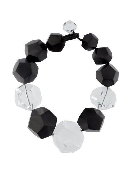 Monies wood women necklace black jewels