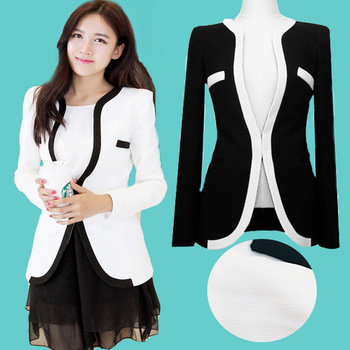 Black and white blazer plus size