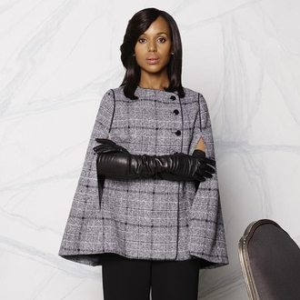 coat tweed coat olivia pope scandal cape coat