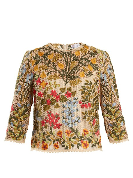 REDValentino top embroidered floral
