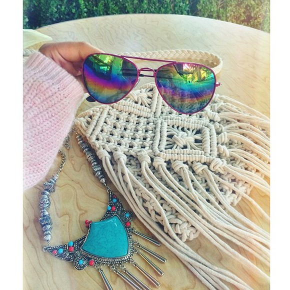 rope boho hippie bag geflochten tasche handtasche shoulder bag bohemian chic indie gypsy etc summery 2014