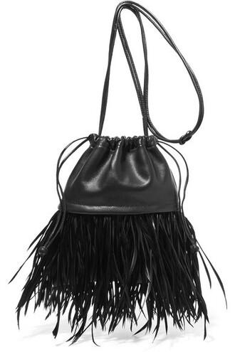 mini embellished pouch leather black bag