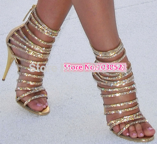2014 Sexy Ankle Strappy Women Sandals Gold Shining Women Wedding Sandals Boots High Heel Party Shoes Women Pumps Women Boots-in Sandals from Shoes on Aliexpress.com | Alibaba Group