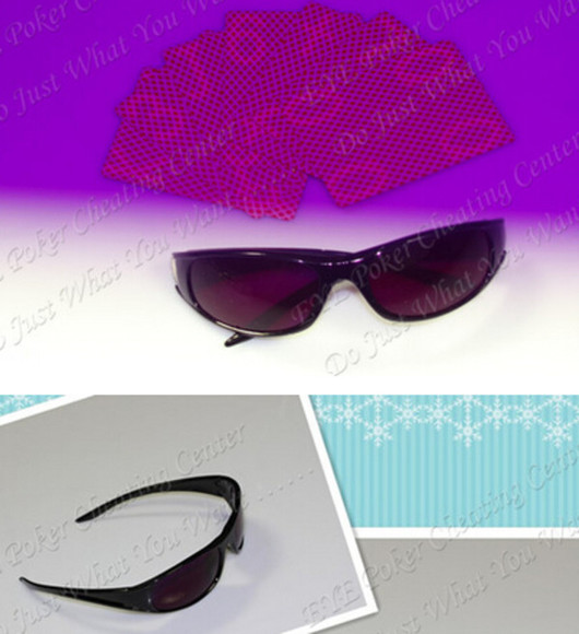 sunglasses infrared sunglasses invisible ink marked cards