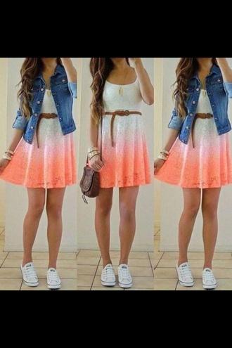 dress ombre dress orange ombre