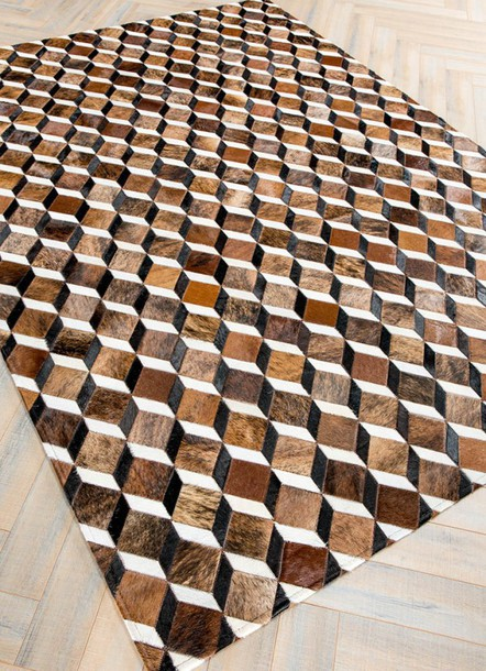 Home Accessory 3d Rugs Carpets Home Decor Interior Decor Mosaic Rugs  Leather Rugs Hide Rugs Cowhide