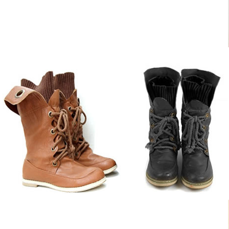 Free shipping Winter sexy motorcycle martin platform snow boots with for women lacing B02203-inBoots from Shoes on Aliexpress.com