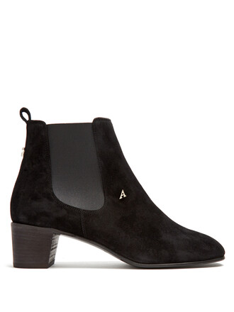 boots chelsea boots suede black shoes